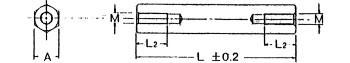 真鍮6角スペーサー ビスなし(SNタイプ)